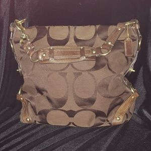 Like New Brown Signature C Coach Bag